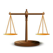 Scales of justice — Vector de stock