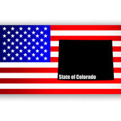 U.S. state of Colorado on the map — Vector de stock