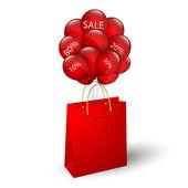 ショッピング バッグやバルーン — ストックベクタ