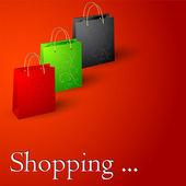 Shopping bags. — Stock Vector