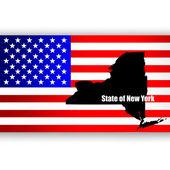 Karta av den amerikanska delstaten new york — Stockvektor