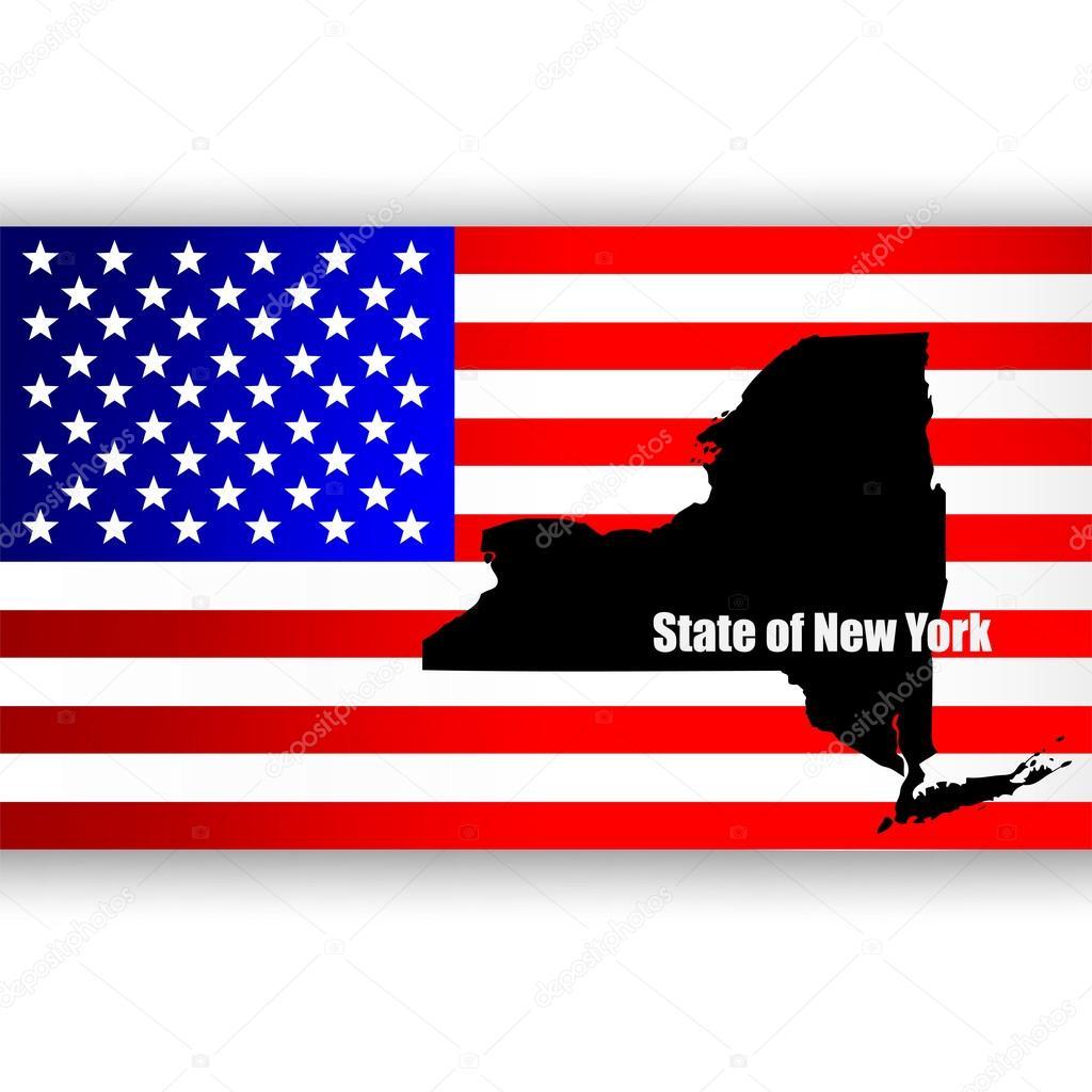 美国纽约州地图 — 图库矢量图像08