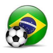 Brezilya bayrağı simgesi — Stok Vektör
