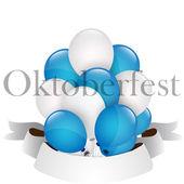 Oktoberfest kutlamaları balonlar — Stok Vektör