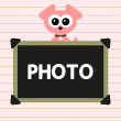 Photo frame with cute puppy - Stock Vector