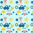 Royalty-Free Stock Vector Image: Cute childish seamless pattern
