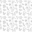 Royalty-Free Stock Vector Image: Cute childish doodles seamless pattern