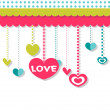 Romantic background with hearts — Stock Vector #12051491