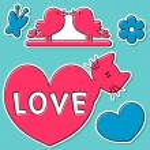 Cute valentine stickers — Stock Vector