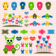 Royalty-Free Stock Vector Image: Sweet scrapbook elements