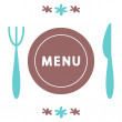 A design for menu card — Stock Vector