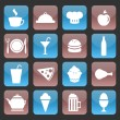 Set of glossy food icons — Stockvectorbeeld