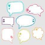 Pretty doodle speech bubbles set — Stock Vector #12052604