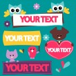 Templates for your text with cute animals — Stock Vector #12052613
