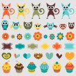 Set of cute childish elements — Stock Vector #12052615