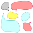 Stock Vector: A set of speech bubbles