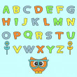 Cute childish alphabet set — Stock Vector