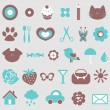 Stock Vector: Cute icons design elements set
