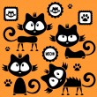 Cute black kittens childish set — Stock Vector #12052665