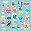 Cute childish stickers — Stock Vector #12052667