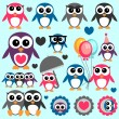 Cute little penguins set — Stock Vector #12052668