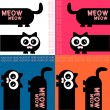 A set of colorful cards with funny kitty — Stock Vector #12052677