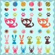 Set of cute childish stickers — Stock Vector #12059840