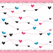 Romantic heart background — Stock Vector
