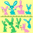 Bunny set — Stock Vector #12059930