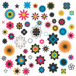 A set of decorative flowers — Imagen vectorial