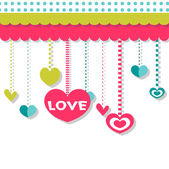 Romantic background with hearts — Stockvector