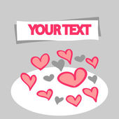 Romantic greeting card with hearts — Stock Vector
