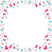 Simple romantic background with hearts — Stock Vector