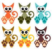 Sweet little kittens set — Stock Vector