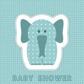 Baby sprcha karty s roztomilý slon — Stock vektor