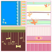 Cute backgrounds for design set — Stock Vector