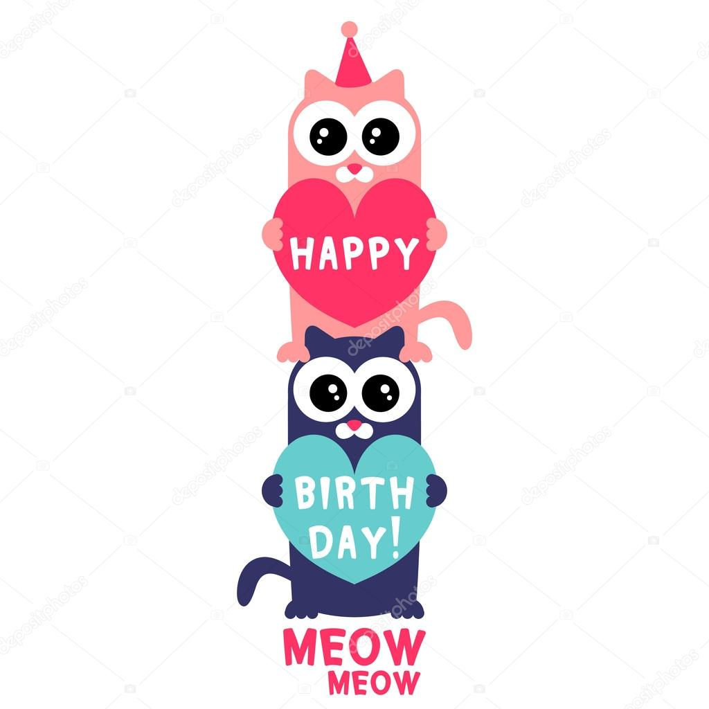 Birthday Kittens Birthday Card Two Cute Kittens