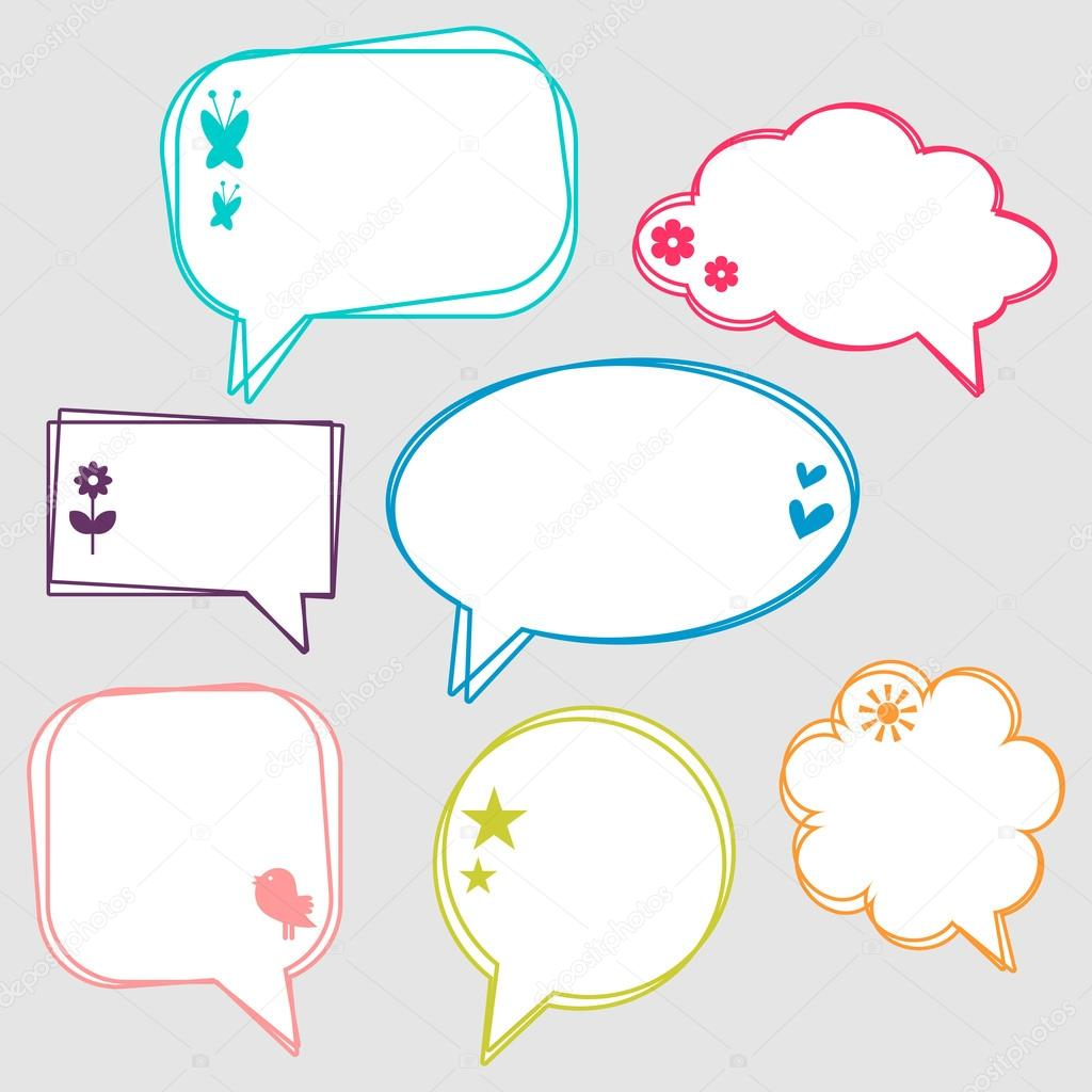 Vector Clipart of cartoon pretty woman with thought bubble ... |Pretty Thought Bubbles