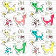 Set of childish doodle stickers — Stock Vector #12060003