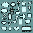 A set of graphic elements — Stock Vector