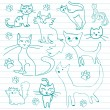 Cat doodles — Stock Vector