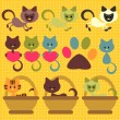 A set of cute little kittens — Stock Vector #12060308