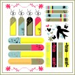Stock Vector: Beautiful scrapbook elements