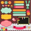 Stock Vector: Cute scrapbook elements set