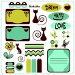 Scrapbook elements — Stock Vector