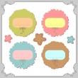Stock Vector: Pretty frames for scrapbook