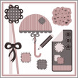 Stock Vector: Pretty elements for scrapbook