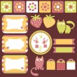 Stock Vector: Pretty scrapbook elements