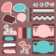 Stock Vector: Set of scrapbook elements