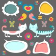 Set of sweet childish elements — Stock Vector #12060646